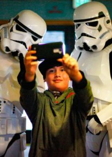 Blake Lopez (9) with Stormtroopers at LumaCon in Petaluma (Argus-Courier)